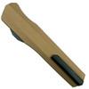 Microtech 242S-2TA Tan Smooth Cypher D/E OTF Auto Knife, Black Combo Blade