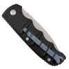 Boker Custom Kalashnikov Auto Knife, Blue Titanium Pocket Clip, AUS-8 Bead Blast Blade