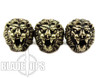 Lion ARMory Small Lion Head Brass Lanyard Beads, Set of 3