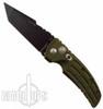 Hogue Knives EX01 Auto Knife, Tanto, Green Aluminum Handle