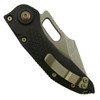 Microtech 169-14 Borka Stitch Wharncliffe Auto Knife, Bronze Combo Blade