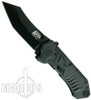 Smith & Wesson Military & Police MAGIC Assisted Black Plain Scoop Back Tanto Blade, SWMP2B