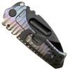 Medford Knife & Tool MK13DPD-02AN Spectrum Praetorian Titanium Folder Knife, D2 Black Blade