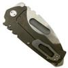 Medford Knife & Tool MK12DTT-02AN Dark Bronze Custom Praetorian Tumbled Titanium Tanto Folder Knife, D2 Tumbled Blade