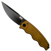SOG DTST-02 Desert Tan SOG-TAC Clip Point Auto Knife, AUS-8 Black Blade