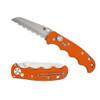 Spyderco C165GSOR Orange Autonomy Auto Knife, H-1 Satin SpyderEdge Blade