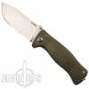 Lion Steel Knives SR-1Ti Bronze Titanium Folder Knife, Satin Plain Blade