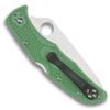 Spyderco Green Endura 4 Folder Knife, VG-10 Satin Blade