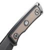 Ruger Powder Keg Fixed Blade Knife, Rubber Handle, Black Stonewash Drop Point Blade