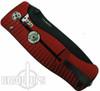 Lion Steel Knives SR1-Al Red Aluminum Folder Knife, Black Plain Blade