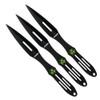 Z-Hunter ZB-050-BK 3-Piece Biohazard D/E Throwing Knife Set, Throwing Target, Black Finish
