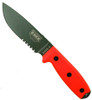 ESEE Knives ESEE-4S-OD Orange Fixed Blade Knife, 1095 Carbon OD Green Combo Blade