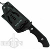Brous Blades Threat Fixed Blade Knife, Black D2 Blade