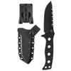Benchmade 375BK Adamas Fixed Blade Knife, Black Sheath, D2 Black Blade