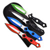 """Perfect Point 9"""" Throwing Knives, Set of 4, Red/Blue/Green/Black"""
