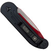 Microtech 135-1SL Sith Lord LUDT Auto Knife, Red Blade