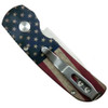 Pro-Tech Limited 2240 Calmigo USA Flag Cali-Legal Auto Knife, 154CM Satin Blade