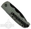 Boker Grey Kalashnikov Auto Knife, AUS-8 Black Combo Blade