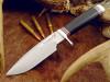 BlackJack Knives Classic Model 125 Knife, Heavy Hunter, Black Micarta Handle