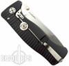 Lion Steel Knives SR1-Al Black Aluminum Folder Knife, Satin Plain Blade