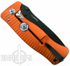 Lion Steel Knives SR1-Al Orange Aluminum Folder Knife, Black Plain Blade