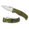Spyderco C217GS Black/Yellow Caribbean Folder Knife, LC200N Satin SpyderEdge Blade