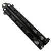 Bear & Son 115TANB Tanto Balisong Butterfly Knife, 1095 Carbon Black Blade