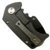 Medford Knife & Tool MK10DP-03FL Panzer Flamed Tumbled Titanium Tanto Folder Knife, D2 Black Blade