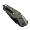 Schrade SCHA5BRS Assist Knife, Brown Handle, Black Combo Edge