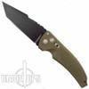 "Hogue Knives Brown EX03 Auto Knife, Black Tanto 4"" Blade"