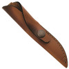 Case Mini Finn Hunter Knife, Fixed Clip Blade, Leather Sheath