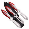 """Perfect Point Red Throwing Knives, Set of 3, 9"""" Overall"""