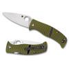 Spyderco C217GP Black/Yellow Caribbean Folder Knife, LC200N Satin Blade