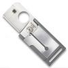 Spyderco C193PGY Grey Lightweight Squarehead Folder Knife, CTS-BD1 Satin Blade