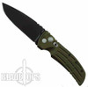 Hogue Knives EX01 Large Auto Knife, Drop Point, Green Aluminum Handle