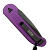 Microtech 135-1VI Violet LUDT Auto Knife, Black Blade