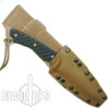 Spartan Blades ARES Fixed Blade Combat Knife, FDE Blade, Black Handle, Tan Kydex Sheath