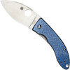 Spyderco Sprint Run C205GFBLP Lil' Lum Blue Nishijin Folder Knife, VG-10 Satin Blade