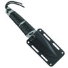 Smith & Wesson 910 Tanto Fixed Blade Knife, Paracord Wrapped Handle, Dark Grey Blade