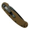 Ontario 8847CB Coyote Brown RAT Model 1 Folder Knife, AUS-8 Black Combo Blade