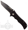 Blackjack Model 1 Tactical Tanto Point Spring Assist Knife, Black Combo Edge, BJ035S