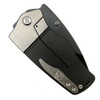 Medford Knife & Tool MK36DP-30PV Black/Silver Sherman Titanium Folder Knife, D2 Black Blade