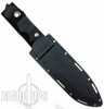 Brous Blades Coroner Fixed Blade Knife, Black D2 Blade, G10 Handle
