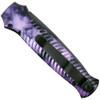 Piranha Plum Mini-Guard Auto Knife, CPM-S30V Black Blade