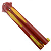 Microtech 173-1FL Flash Tachyon III Balisong Butterfly Knife, Red Blade