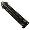 Remington Black Butterfly Knife, Damascus Tanto Point Blade