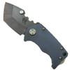 Medford Knife & Tool MK10DV-02AN Blue Panzer Tumbled Titanium Tanto Folder Knife, D2 Vulcan Blade