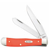 Case Orange Synthetic Trapper Knife, Spey/Clip Blade