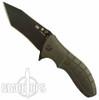 HTM Kirby Lambert Grey SNAP Assisted Knife, Black Tanto