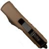 Microtech 231-1TA Tan Contoured UTX-85 S/E OTF Auto Knife, Black Blade